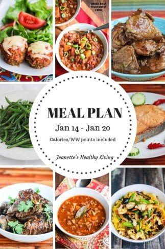 Weekly Meal Plan Jan 14