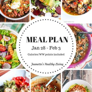 Healthy Meal Plan ( January 28 – February 3)