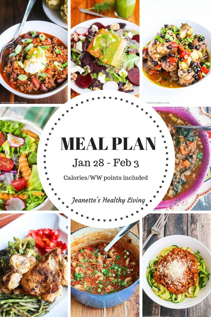 Weekly Healthy Meal Plan - Recipes and ideas to help get healthy meals on your family's table. Calories and WW points included