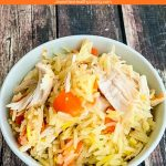 Chicken Saffron Rice Pilaf - a simple, but delicious and healthy meal. Kid-friendly, family-friendly