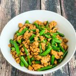 Stir Fry Ground Chicken and Green Beans - simple, healthy, delicious dish