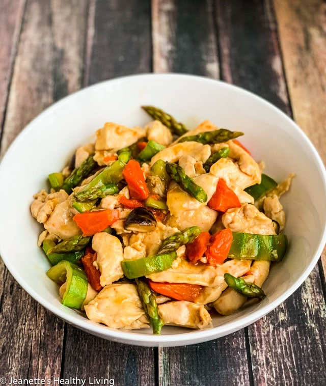 Stir-Fry Velveted Chicken and Vegetables - a special Chinese cooking technique that results in super tender chicken breast