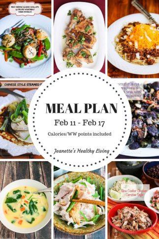 Weekly Meal Plan Feb 11
