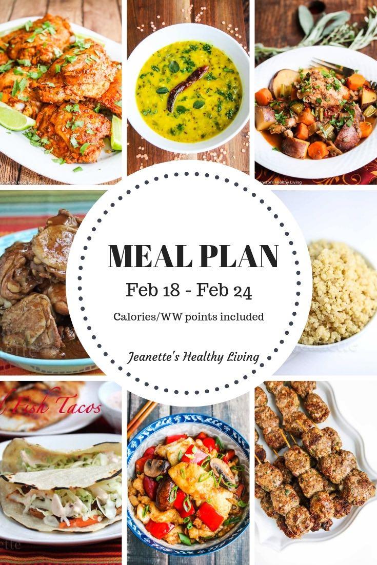 Weekly Meal Plan Feb 18
