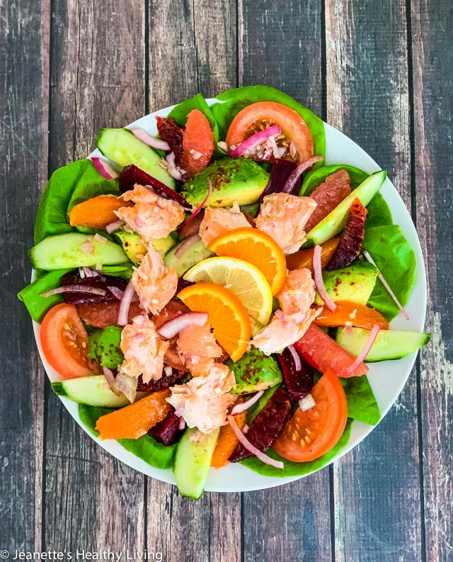 Slow Roasted Salmon Salad