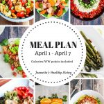 Weekly meal plan April 1 - April 7