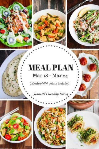 Weekly meal plan mar 18