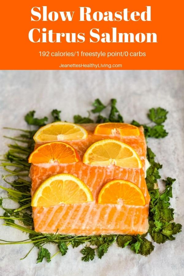 slow roasted citrus salmon