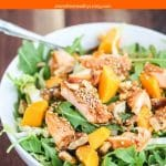 Asian Salmon Arugula Salad