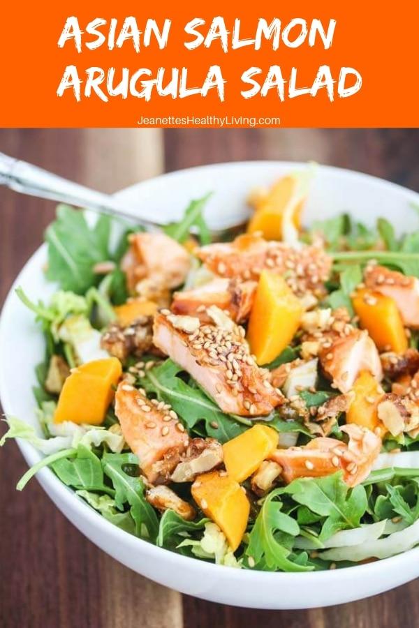 Asian Salmon Arugula Salad