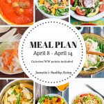 Weekly meal plan April 8
