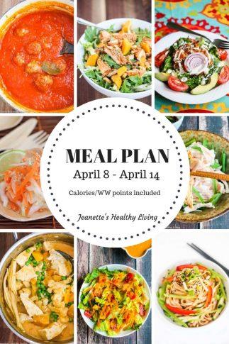 Weekly meal plan April 8