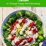 broccoli strawberry avocado salad with orange poppy seed dressing