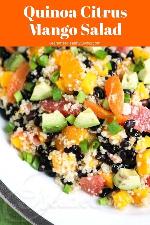 quinoa citrus mango salad