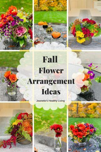Fall Flower Arrangement Ideas Collage