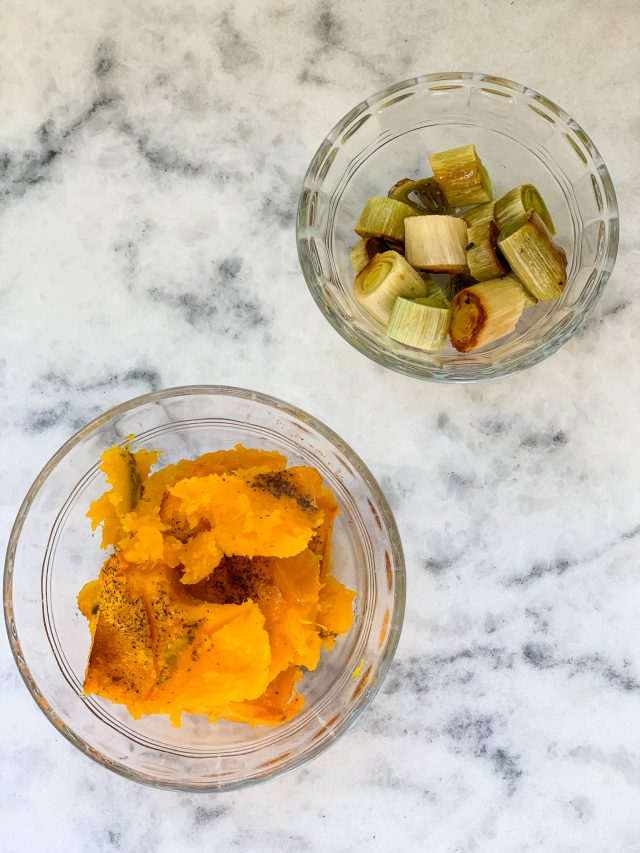 Roasted Kabocha Squash and Leeks