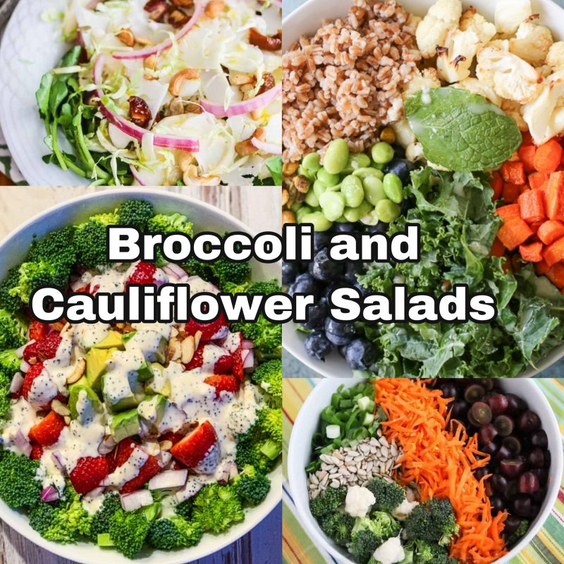 Broccoli and Cauliflower Salads