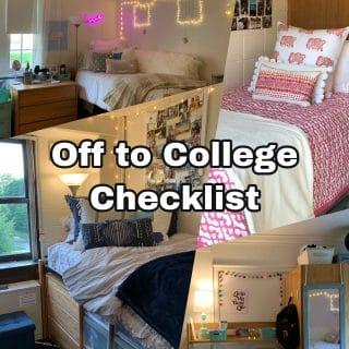 College Move-In Checklist