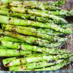 Grilled Asparagus with Balsamic Soy Butter Sauce - a super easy and delicious recipe with just 4 ingredients