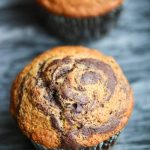 Gluten-Free Chocolate Banana Marbled Muffins - these muffins are moist, delicious and healthy - make them for breakfast as a special treat!