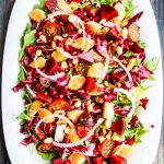 Christmas Salad - beautiful holiday salad featuring jewel toned ingredients sure to delight guests
