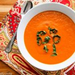 Copycat Panera Bread Creamy Tomato Basil Soup - so creamy and delicious, just like Panera