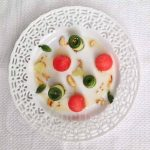 Composed Burmese Cucumber Watermelon Salad © Jeanette