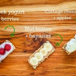 Gluten Free Fruit and Nut Snack Bars - Nature Valley gluten free bars topped with fresh fruit and Greek yogurt, nut butter, and cottage cheese - easy ways to dress up snack bars and incorporate healthy fruits