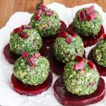 Georgian Beet Green Pkhali - pretty presentation of a traditional Georgian dish