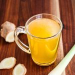 Ginger Lemongrass Chicken Broth - this broth is scented with crushed fresh lemongrass and ginger.