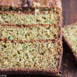 Gluten Free Lemon Zucchini Bread - this lemon scented quick bread makes a healthy snack or breakfast bread