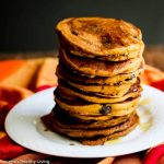 Gluten Free Pumpkin Spice Oat Chocolate Chip Pancakes © Jeanette