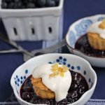Gingered Blueberry Shortcakes with Light Creamy Topping © Jeanette
