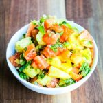 Grilled Papaya Pineapple Salsa - grilling fruit concentrates the sugar and flavor - serve this sweet salsa over grilled fish or chicken