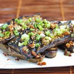 Asian Grilled Eggplant with Spicy Soy Sesame Sauce