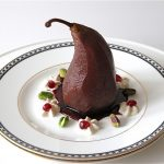 Pomegranate Poached Pear