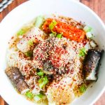 Korean Oxtail Soup - this Asian bone broth is served with a chili sesame scallion topping