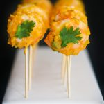 Mango Coconut Shrimp Pops - a delicious tropical themed shrimp cocktail