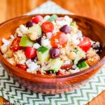 Mediterranean Quinoa Salad - this clean eating salad has all the ingredients of a Greek salad