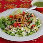 Mexican Chopped Salad with Lime Cilantro Dressing © Jeanette