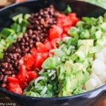 Mexican Chopped Salad with Creamy Cilantro Lime Dressing © Jeanette