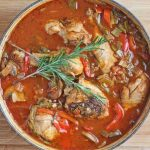 Oven Braised Chicken Cacciatore with Rosemary © Jeanette