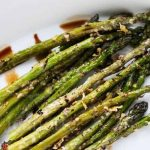 Parmesan Crusted Asparagus with Balsamic Vinegar