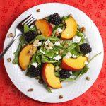 Peach Blackberry Arugula Salad
