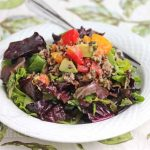 Quinoa Lentil Mixed Green Salad
