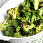 Roasted Broccoli and Chili Sauce © Jeanette