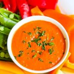 Smoky Roasted Red Pepper Feta Dip - this healthy dip is immune boosting