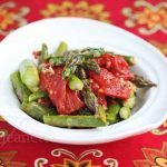Roasted Tomatoes and Spring Asparagus © Jeanette