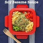 Cool Soba Noodles with Sweet Spicy Soy Sesame Sauce © Jeanette