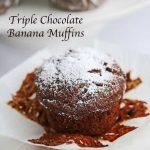 Gluten-Free Triple Chocolate Banana Muffin